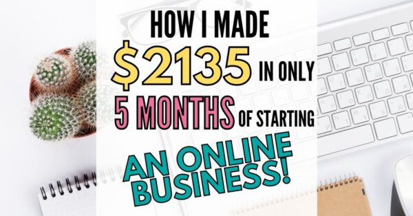April Blog Report: How I made $2135 in FIVE months!